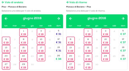 voli low cost per Monaco di Baviera Pisa