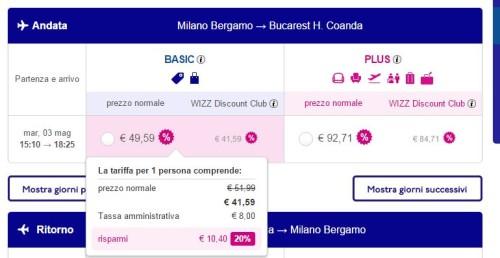 Voli economici per Bucarest da Milano Bergamo 2016
