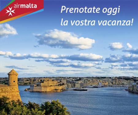 voli low cost per Malta estate 2016