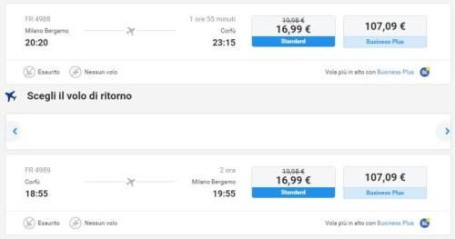 Ryanair Voli Milano Corfù economici per il 2016