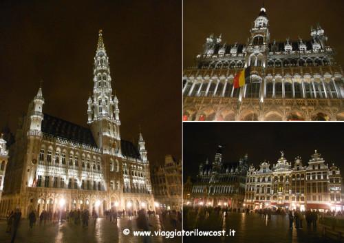 cosa vedere a Bruxelles Grand Place di sera