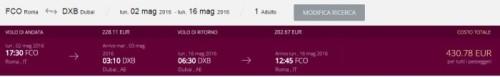 Voli economici Asia Dubai di Qatar Airways