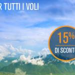 Voli low cost di Blue Air: -15% per tutte le destinazioni