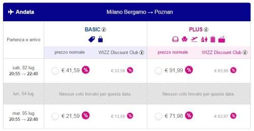 Voli low cost Polonia Milano Poznan