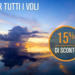 Voli per Italia ed Europa: -15% per viaggiare fino a ottobre