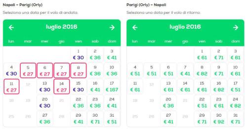 Voli Napoli Parigi da 27€ 2016