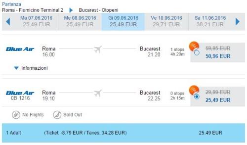 Voli low cost da Roma per Bucarest 2016