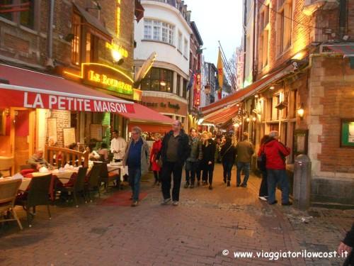 cosa vedere a Bruxelles Rue des Bouchers