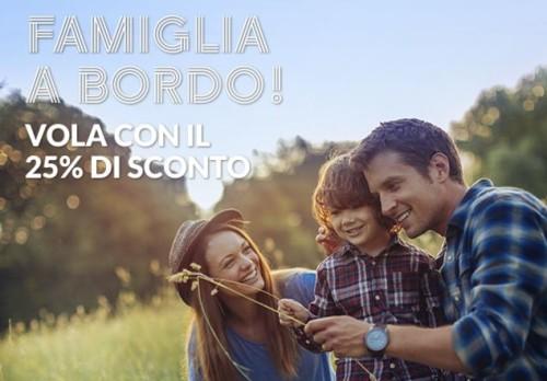 promo voli Alitalia con sconto famiglia del 25%