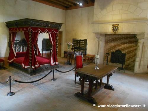 Castelli della loira il castello di clos luc ad amboise for Piani camera a castello