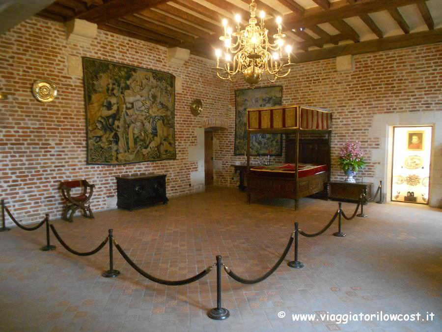 Castelli della loira il castello di clos luc ad amboise for Planimetrie della camera a castello