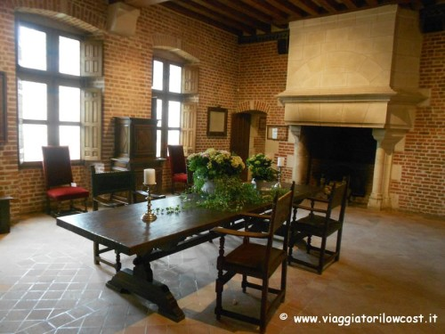 Interni del Castello di Clos Lucé ad Amboise