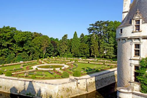 Giardini del Castello di Chenonceau nella Valle della Loira
