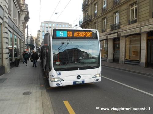 come muoversi a Ginevra autobus per aeroporto