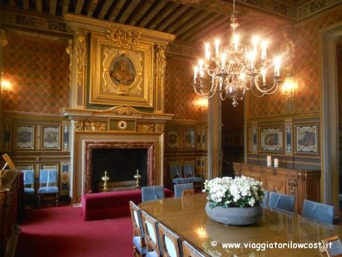 sala da pranzo del Castello di Cheverny