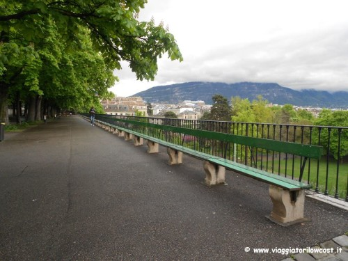 panchina più lunga del mondo a Ginevra