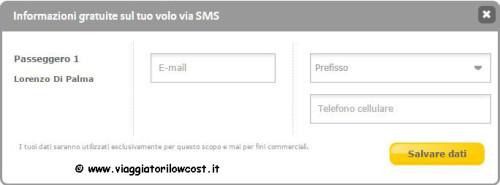 Come fare check-in online Vueling modulo contatti