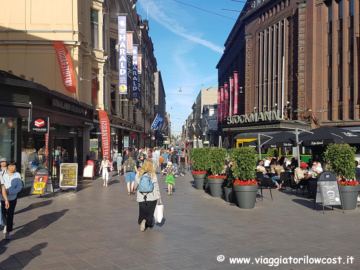 dove fare shopping a Helsinki Strada Aleksanterinkatu
