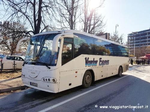 Vardar Express autobus aeroporto di Skopje al centro