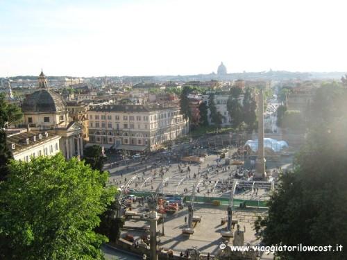 Terrazza del Pincio Parco di Villa Borghese a Roma